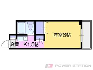 札幌市中央区南1条西9丁目0賃貸マンション間取図面