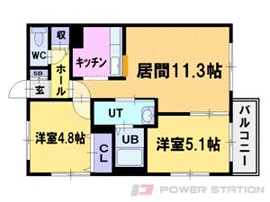 札幌市中央区北7条西27丁目1賃貸マンション間取図面