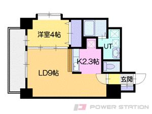 札幌市中央区北4条西14丁目0賃貸マンション間取図面