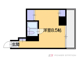 札幌市中央区南3条東2丁目0賃貸マンション間取図面