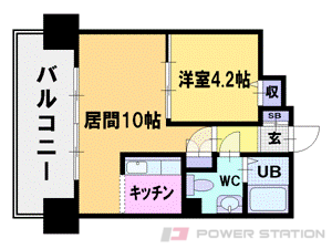 札幌市中央区南10条西1丁目1賃貸マンション間取図面