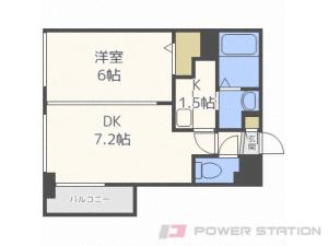 札幌市中央区南3条西8丁目0賃貸マンション間取図面