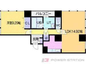 札幌市中央区北2条西10丁目0賃貸マンション間取図面