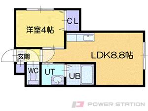 札幌市中央区北1条西20丁目0賃貸マンション間取図面