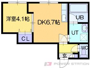 札幌市中央区北2条西18丁目0賃貸マンション間取図面