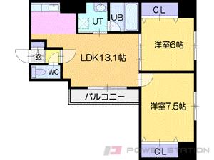 札幌市中央区北2条東3丁目0賃貸マンション間取図面