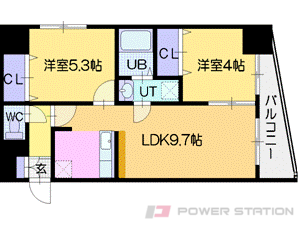 札幌市中央区南12条西1丁目1賃貸マンション間取図面