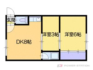札幌市中央区北3条西30丁目1賃貸アパート間取図面