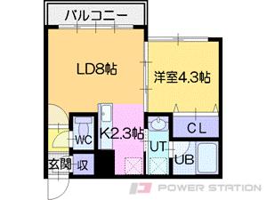 札幌市中央区北5条西17丁目0賃貸マンション間取図面