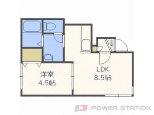 札幌市中央区南6条西12丁目0賃貸アパート間取図面