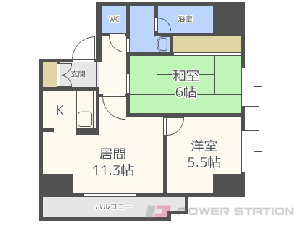 札幌市中央区南7条西9丁目0賃貸マンション間取図面