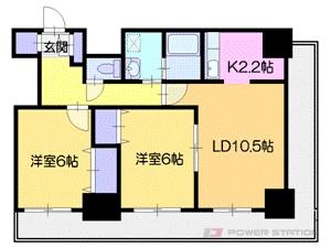 札幌市中央区南8条西4丁目0賃貸マンション間取図面