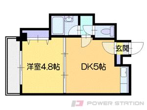 札幌市中央区南9条西6丁目1賃貸マンション間取図面