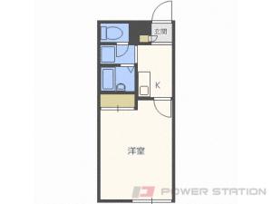 札幌市中央区南10条西21丁目0賃貸アパート間取図面