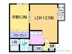 札幌市中央区南15条西7丁目0賃貸マンション間取図面