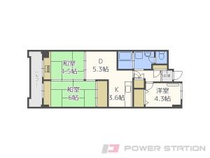 豊水すすきの3DKマンション図面
