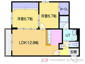 札幌市中央区南16条西19丁目0賃貸マンション間取図面
