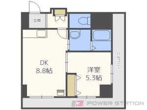 札幌市中央区南6条東2丁目1賃貸マンション間取図面