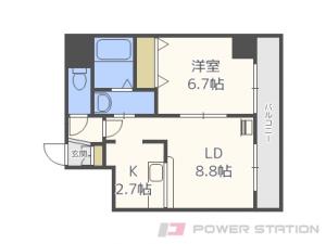 札幌市中央区南6条東2丁目0賃貸マンション間取図面