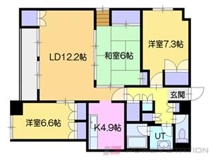 札幌市中央区南7条西1丁目0賃貸マンション間取図面