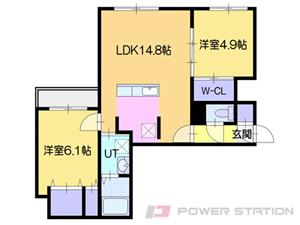 札幌市中央区南1条西10丁目1賃貸マンション間取図面