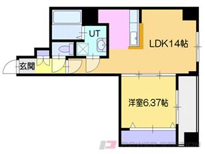 札幌市中央区南1条西15丁目0賃貸マンション間取図面