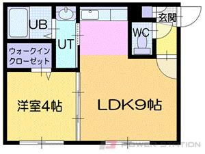 札幌市中央区南9条西8丁目0分譲リースマンション間取図面