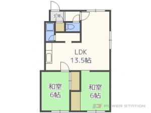 札幌市中央区旭ケ丘5丁目1賃貸アパート間取図面