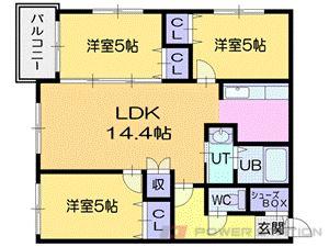 札幌市中央区北7条西19丁目0賃貸マンション間取図面