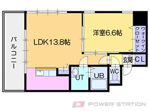 ビッグタワー大通公園:11階以上の2号室タイプ