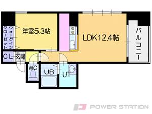 ビッグタワー大通公園:11階以上の3号室タイプ
