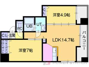 札幌市中央区南1条西4丁目0賃貸マンション間取図面