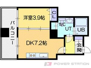 ビッグタワー大通公園:10階までの2号室タイプ
