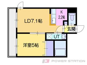 札幌市中央区南4条西25丁目0賃貸マンション間取図面