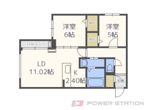 札幌市中央区北9条西21丁目1賃貸マンション間取図面