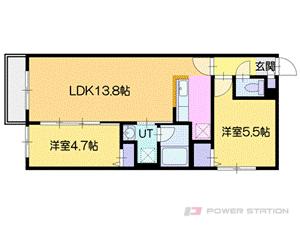 グランオルセーS8:2号室タイプ【2LDK】~木のぬくもり溢れる北欧スタイ?3号室タイプ【2LDK】~無機質(クール)なオトナ空間~