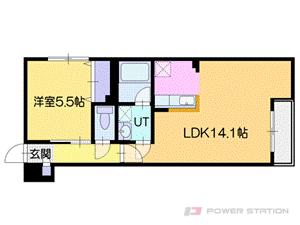 札幌市中央区南8条西12丁目1賃貸マンション間取図面