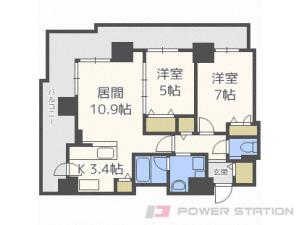 札幌市中央区北1条西10丁目0分譲リースマンション間取図面