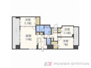 西28丁目3LDK分譲リースマンション図面
