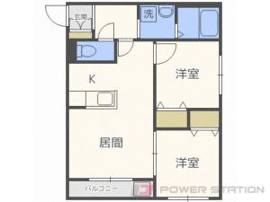 札幌市中央区南16条西9丁目1賃貸マンション間取図面