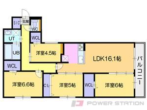 札幌市中央区宮の森3条10丁目1分譲リースマンション間取図面
