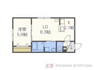 札幌市中央区南19条西7丁目01賃貸マンション間取図面