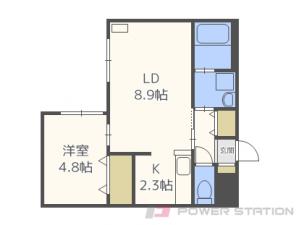 札幌市中央区南10条西13丁目11賃貸マンション間取図面