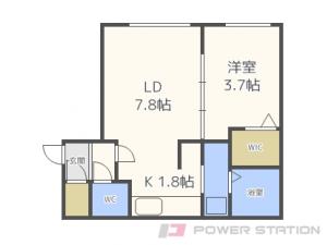 札幌市中央区南10条西7丁目01賃貸マンション間取図面