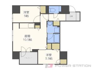 札幌市中央区南3条西5丁目0分譲リースマンション間取図面