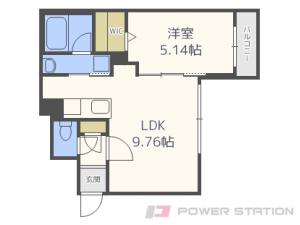 札幌市中央区南7条西25丁目0賃貸マンション間取図面