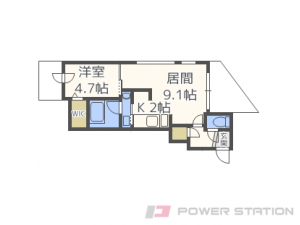 札幌市中央区南9条西6丁目01賃貸マンション間取図面