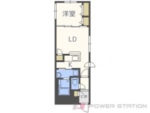 札幌市中央区北8条西21丁目01賃貸マンション間取図面
