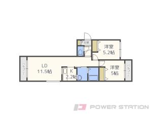 札幌市中央区南5条西22丁目1賃貸マンション間取図面