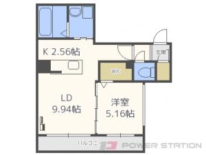 札幌市中央区南11条西11丁目1賃貸マンション間取図面